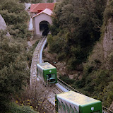 The Santa Cova Funicular - Montserrat, Spain