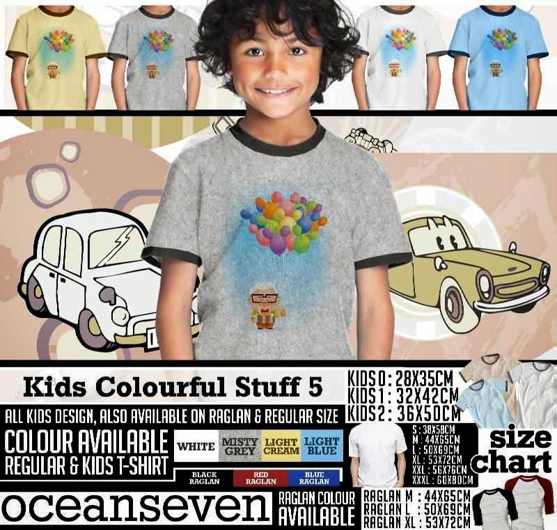 Kaos anak Kids Colourful 5 Lucu Gambar Baloon distro ocean seven