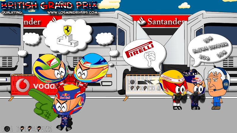 Комикс Los MiniDrivers - Квалификация перед Гран-при Великобритании 2011