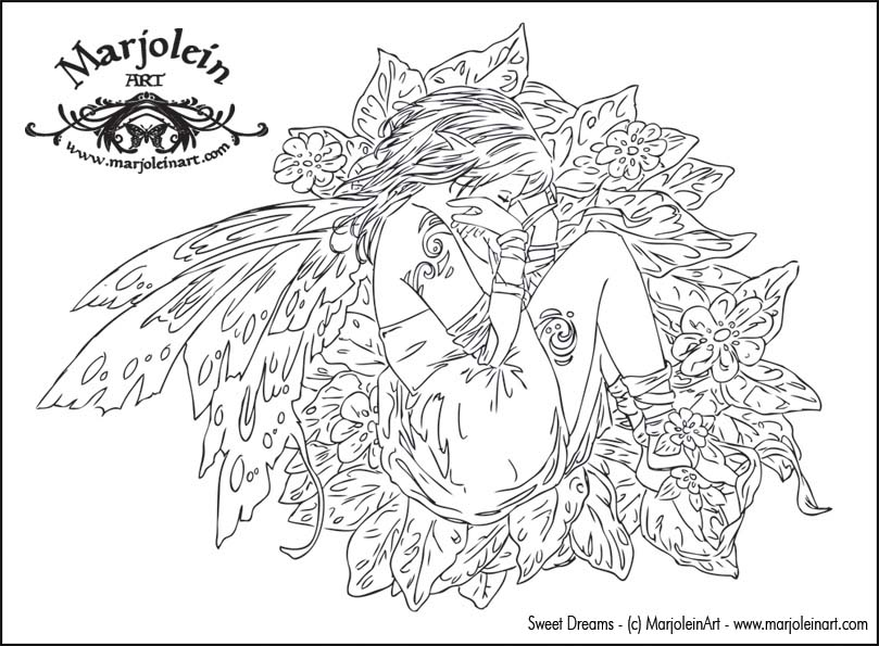 FAIRY coloring pages Hellokids  - free printable fairy coloring pages