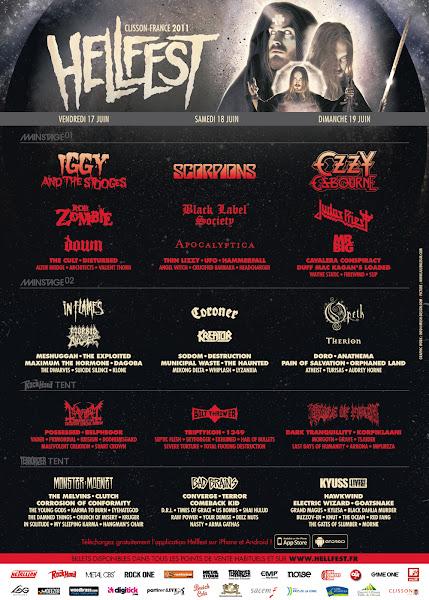 Affiche Hellfest 2011 - 17,18 & 19/06/2011
