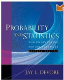 Text: Probability and Statistics. Description: Picture of Aaron's Statistics for Engineering text book.
