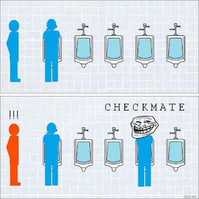 checkmatenobanheiro Checkmate no banheiro