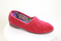 European-made red slipper from Veganline.com