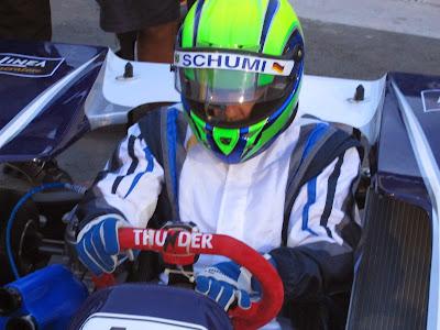 Фелипе Масса в шлеме Schumi на картинговой гонке в Пенья - 10 января 2014