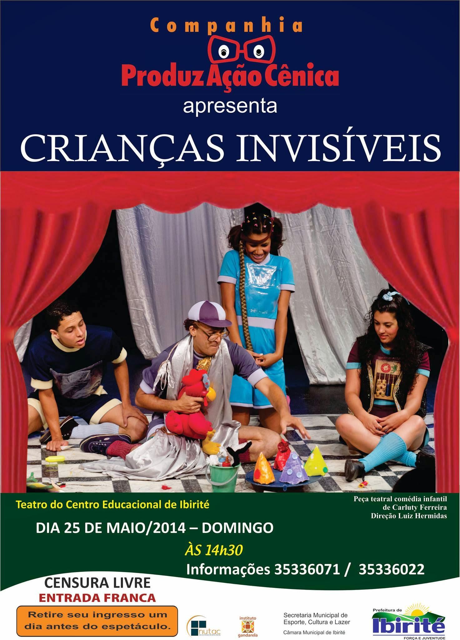 Crianças Invisíveis no Teatro do Centro Educacional de Ibirité