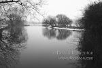 The River Test in winter (monochrome conversion)