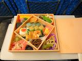 My eki bento on the Shinkansen ride to Osaka