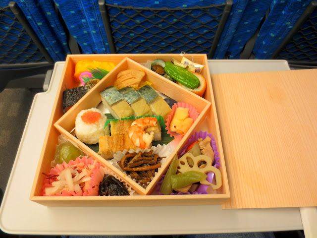 My eki bento on the Shinkansen ride to Osaka