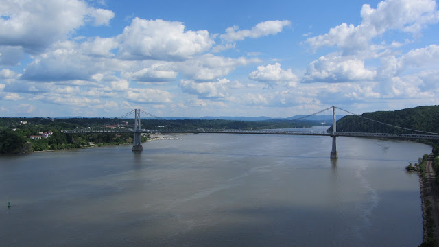 The FDR Mid-Hudson Bridge as seen from the Walkway. This bridge was built in 1930 - at the time no other road crossing was available south of Albany.