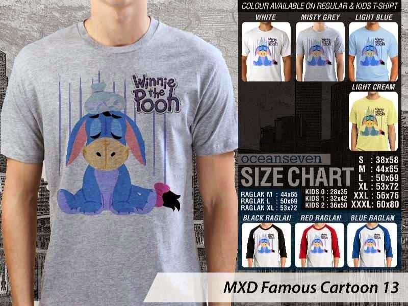 KAOS Winnie the Pooh 13 Kartun Lucu distro ocean seven