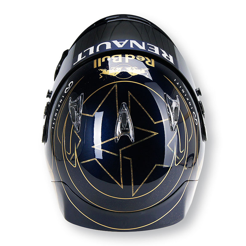 шлем Себастьяна Феттеля для Гран-при Кореи 2011 - вид сверху