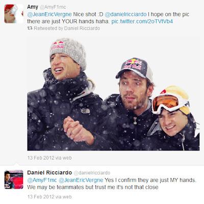 Даниэль Риккардо отвечает в твиттере про руки