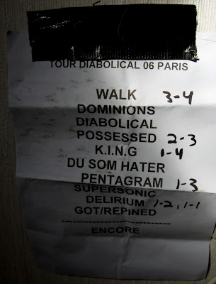 Satyricon : set-list @ La Locomotive, Paris 26/09/2006