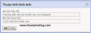thẻ alt và title hình ảnh quan trọng trong blogspot như thế nào