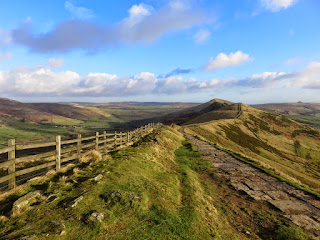 The Great Ridge From The Descent Of Mam Tor
