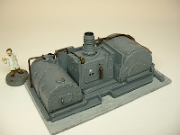 Steam turbine Steampunk Victorian Science Fiction war game terrain and scenery