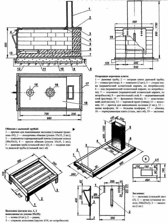 Построить дровяную печь своими руками