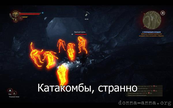 Ведьмак 2 - катакомбы, странно
