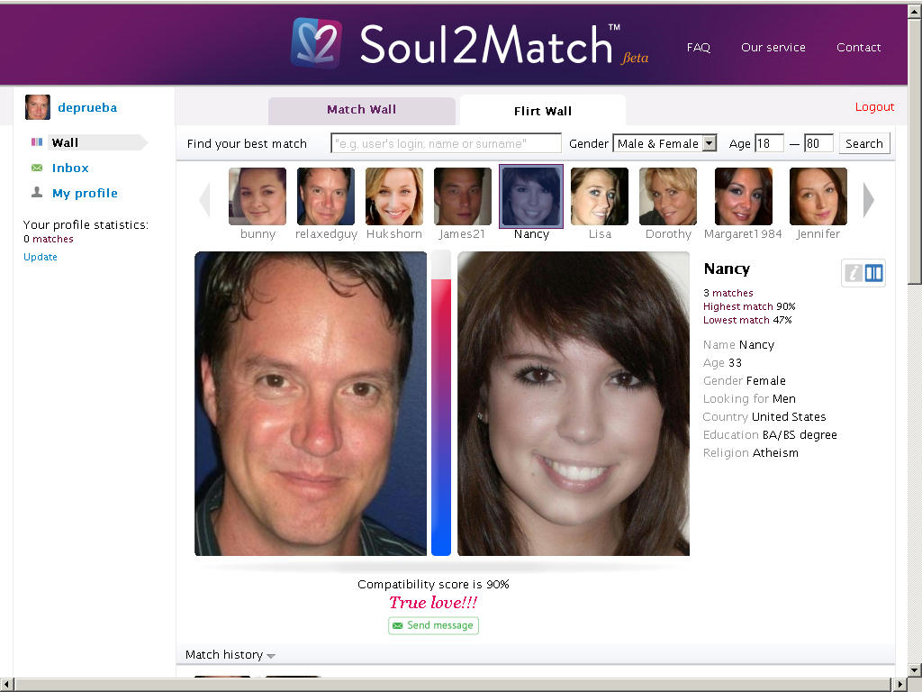 His match for me dating site