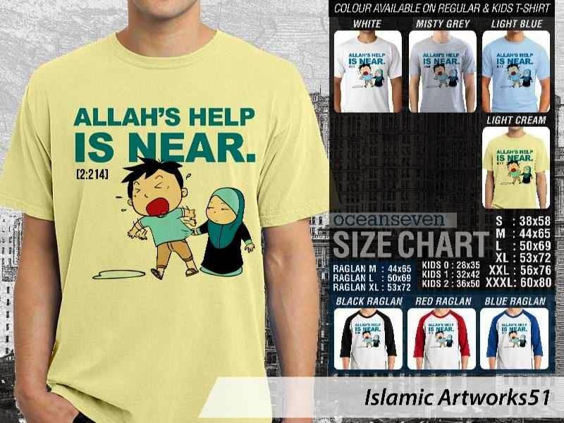 Jual kaos dakwah Islam Muslim Allahs help is near. Islamic Artworks 51 distro