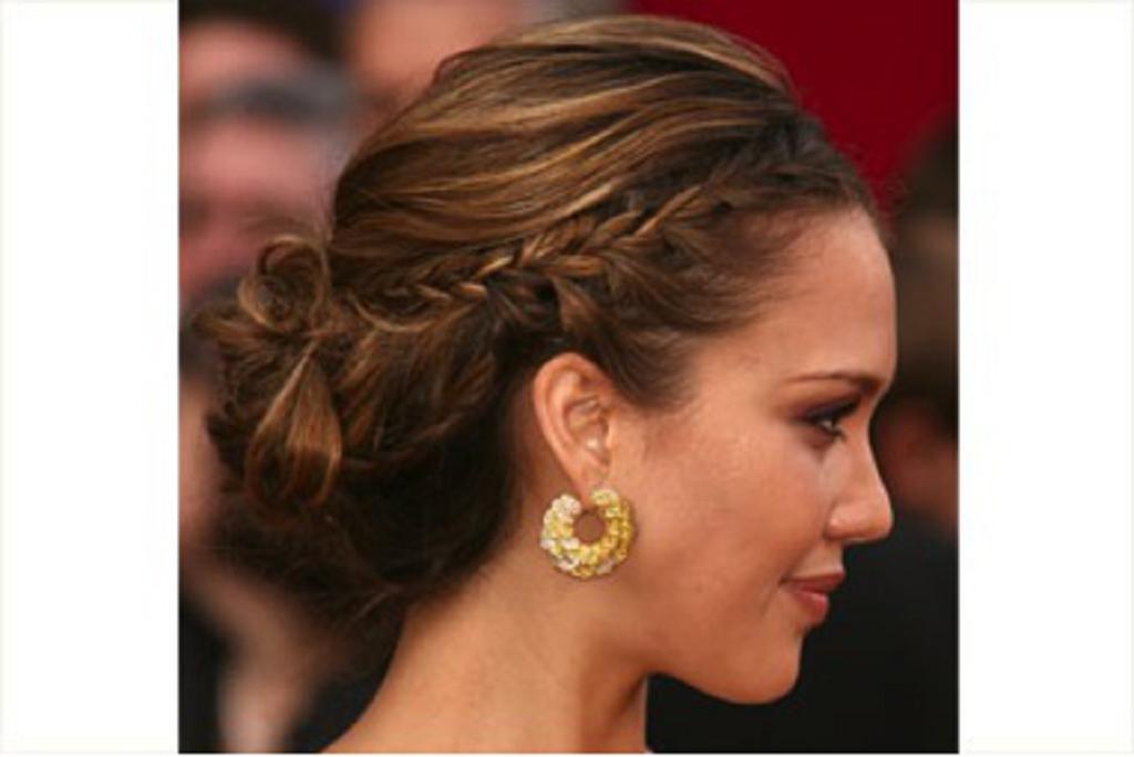 Peinados recogidos para cabellos cortos for Medio recogido con trenzas