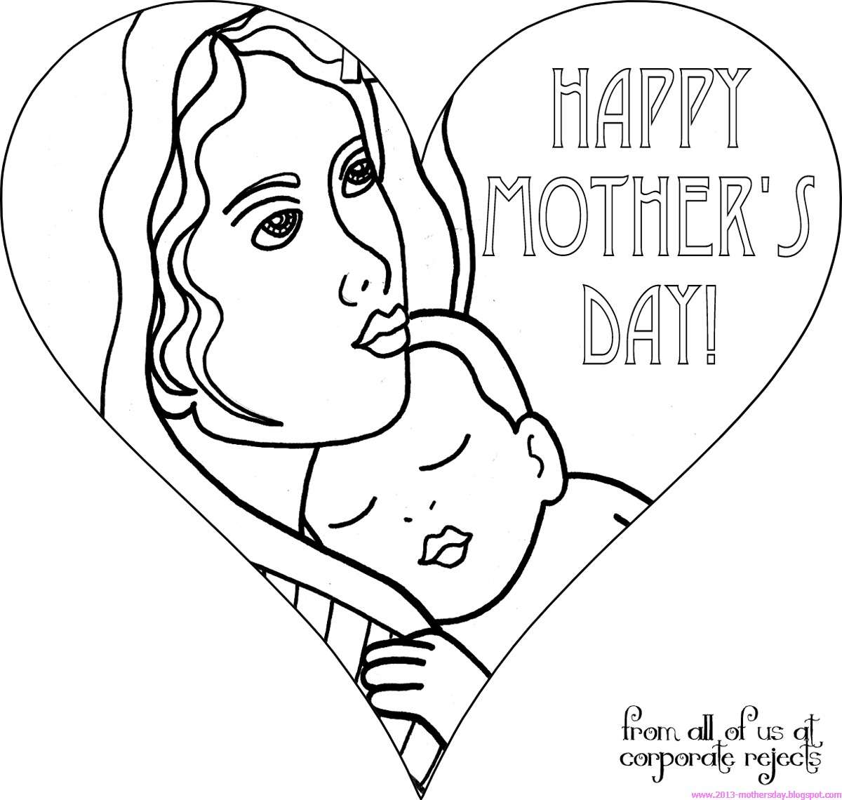 mothers day coloring pages for kids - Free Coloring Pages Printable Coloring Pages for Kids