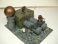 Manufacturing plant Industrial Science Fiction war game terrain and scenery