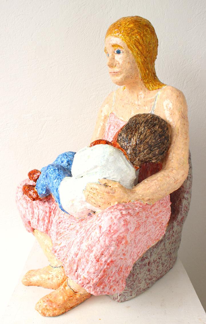 mare de déu amb el nen dormint (sculpture by frank waaldijk, lefthalf)