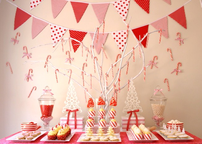 Candy Cane Dessert Table