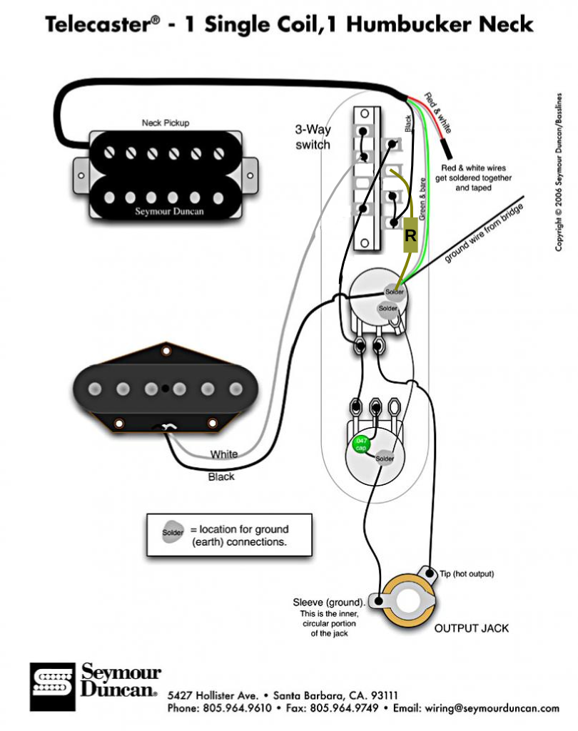 Tele Wiring Hb Neck Sc Bridge Guitar Discussions On Thefretboard 500k Volume Control Image