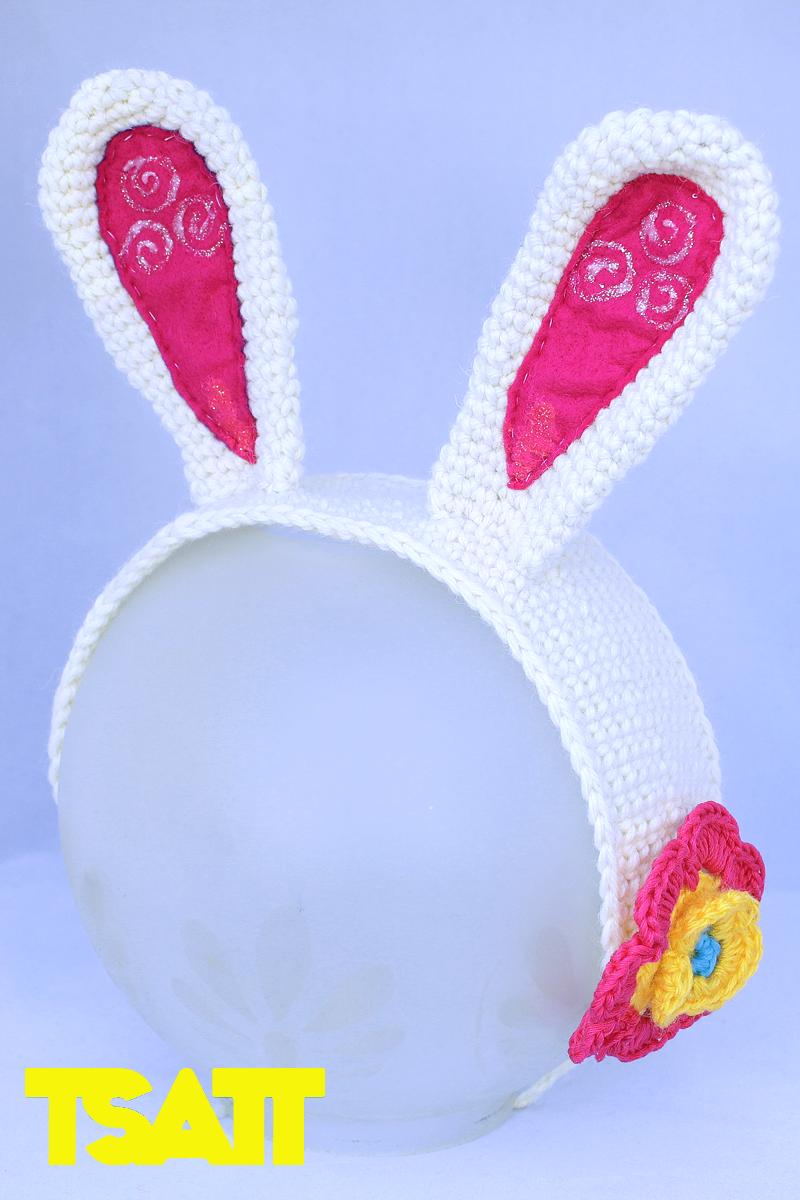 Crocheted Bunny Ears Tutorial