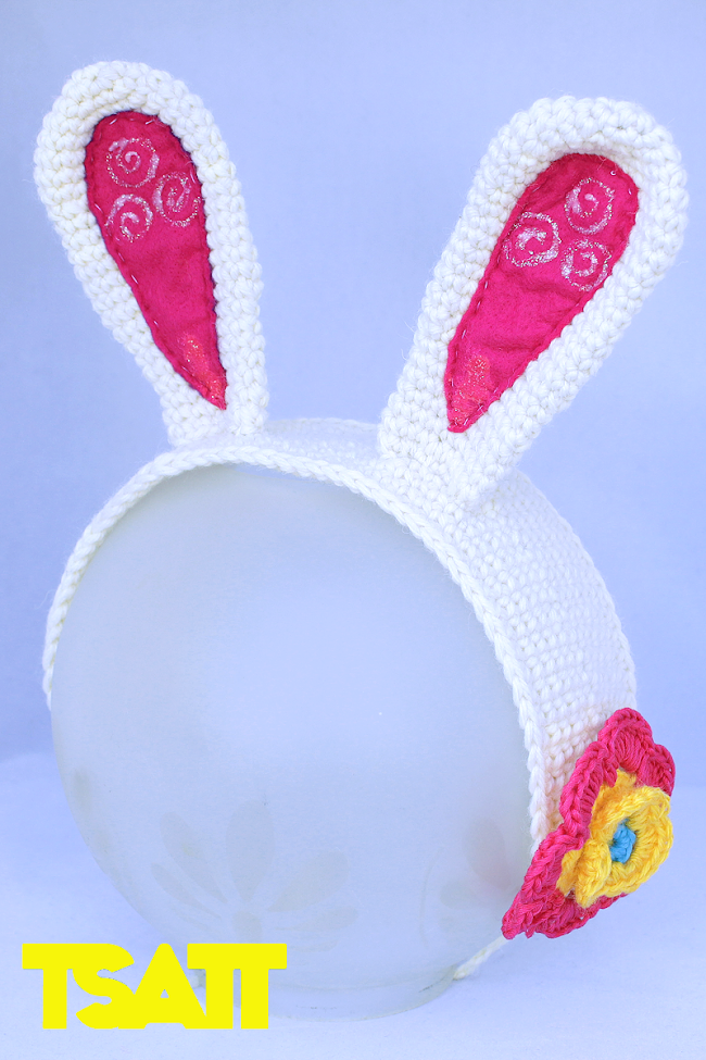 Crocheted Bunny Ears Tutorial
