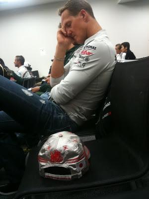 Михаэль Шумахер на встрече GPDA на Гран-при Японии 2011