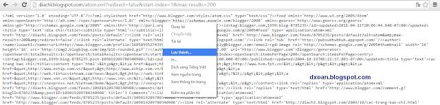 Lấy toàn bộ dữ liệu (DATA) của Blogspot bất kỳ và cách ngăn chặn