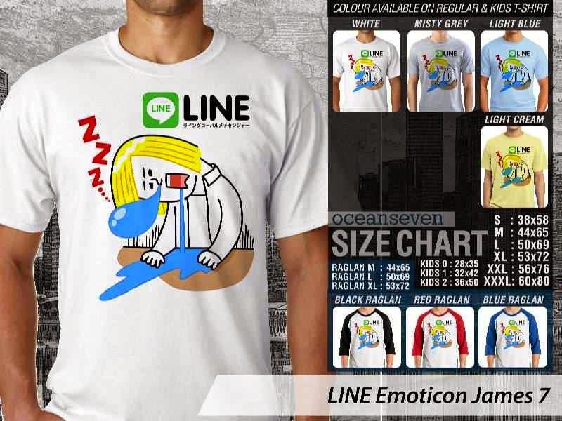 KAOS IT LINE Emoticon James 7 Social Media Chating distro ocean seven