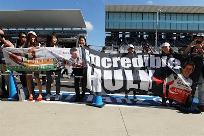 болельщики Нико Хюлькенберга и Пола ди Ресты на Гран-при Японии 2012