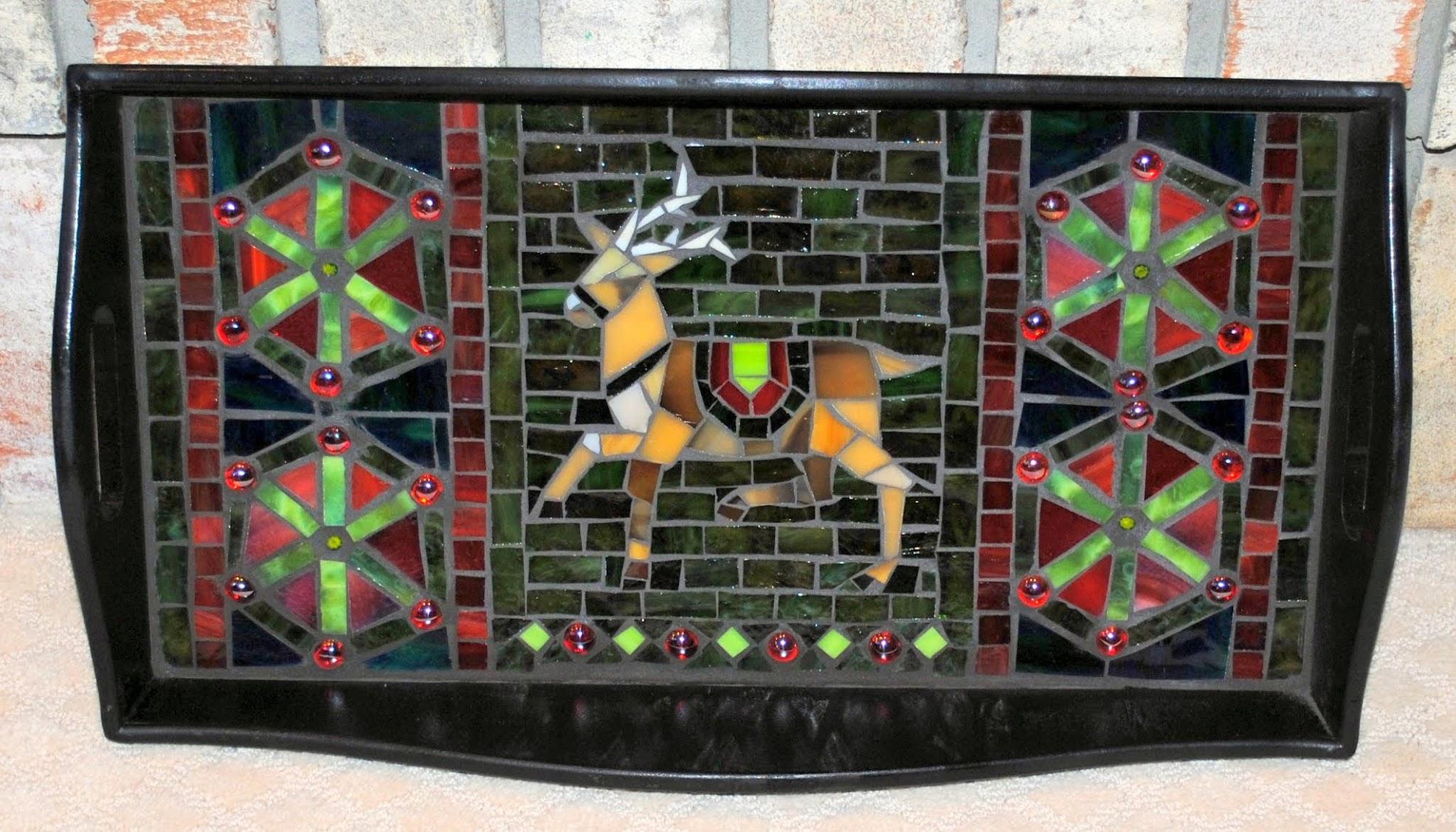 Blitzen Mosaic Serving Tray MOT3023