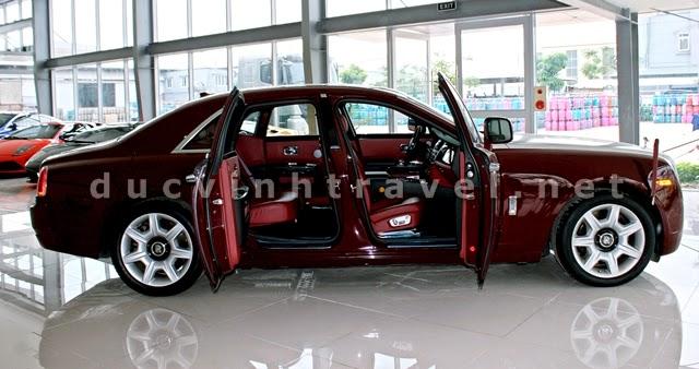 Cho thuê xe siêu VIP Roll Royce đỏ mận cực sang 2