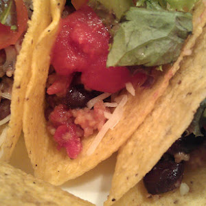 Black bean couscous tacos