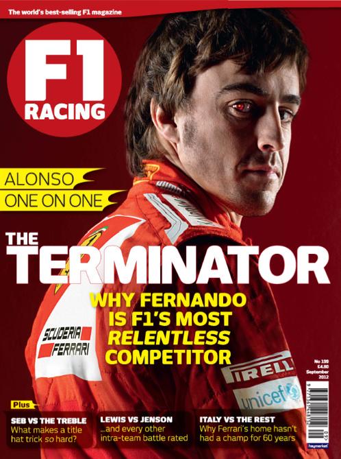 Фернандо Алонсо на обложке сентябрьского F1 Racing 2012