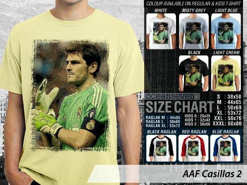 KAOS Iker Casillas 2 Gambar Photo distro ocean seven