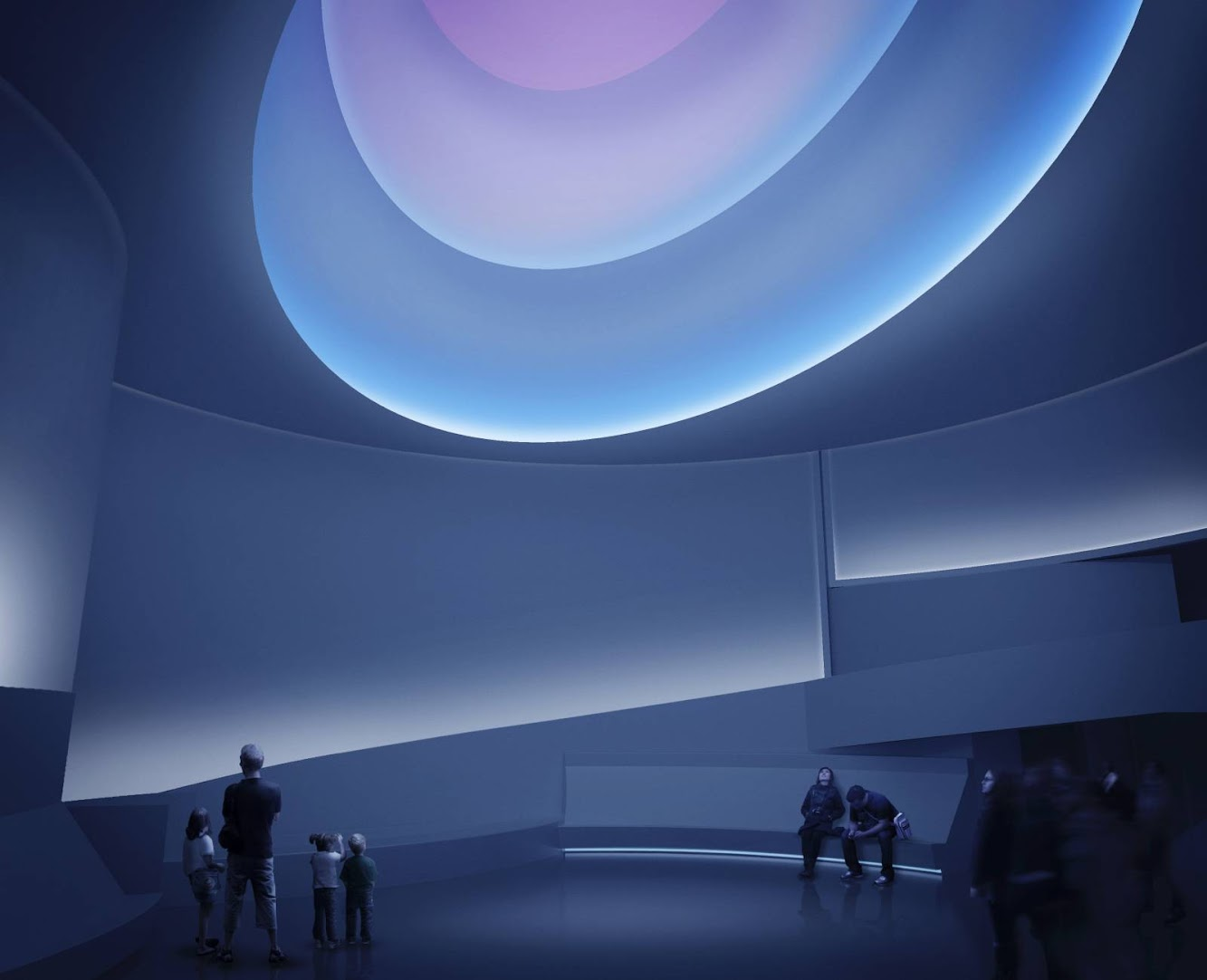 guggenheim museum, 1260 Broadway theatre, New York, 10001, Stati Uniti: The Guggenheim Light Sculpture by James Turrell