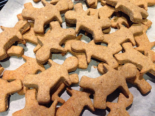 Peanut Butter & Banana Dog Biscuits