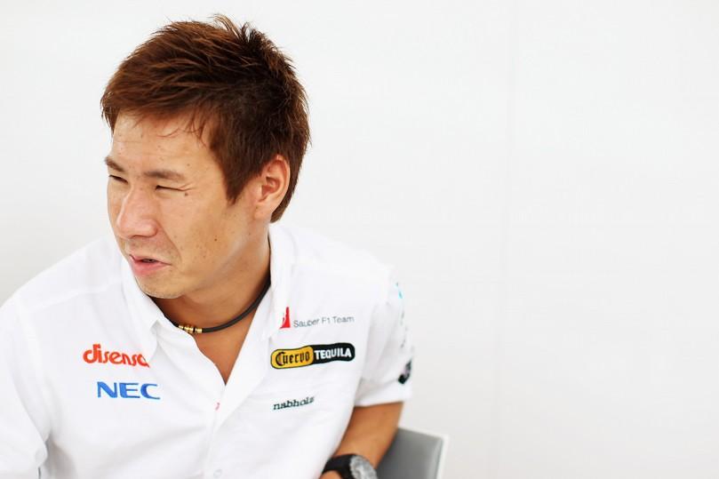 Камуи Кобаяши дает интервью на Гран-при Европы 2011