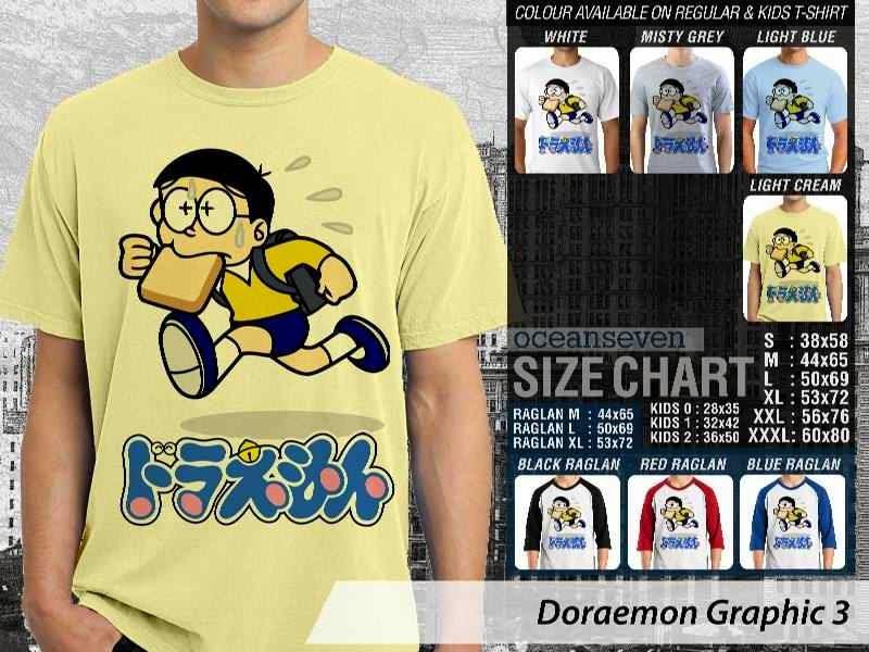 KAOS Doraemon 43 Manga Lucu distro ocean seven