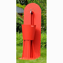 Fontaine design rouge