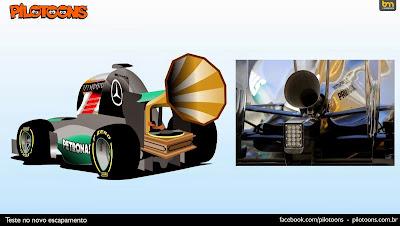 новый выхлоп Mercedes на тестах - комикс pilotoons