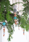 Beady christmas decorations