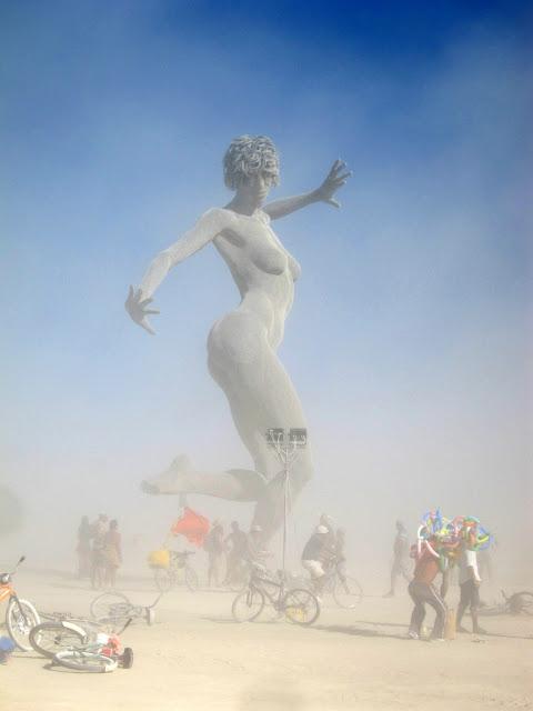 Dancing Sculpture In Dust